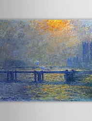 cheap -Oil Painting Hand Painted - Famous Comtemporary Canvas