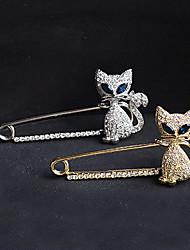 Mujer Broche Cristal La imitación de diamante Moda Dorado Plata Joyas Fiesta Ocasión especial Cumpleaños Diario
