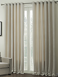 cheap -Two Panels Curtain Modern , Embossed Living Room Polyester Material Curtains Drapes Home Decoration