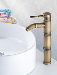 billige -Antik Basin Keramik Ventil Et Hul Enkelt håndtag Et Hul Antik Messing, Håndvasken vandhane