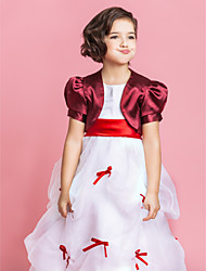 cheap -Short Sleeves Satin Party Evening Kids' Wraps Wedding  Wraps Shrugs
