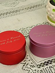 12 Piece/Set Favor Holder-Cylinder Metal Favor Boxes Favor Tins and Pails Personalized
