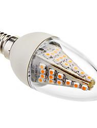 e14 led lys lys c35 48 smd 5050 230lm varm hvid 2800k dekorative ac 220-240v