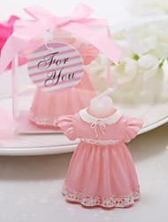 baratos -bela vela de saia rosa adorável favor favores de casamento elegante