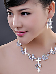 cheap -Women's As the Picture Crystal Jewelry Set - Include White For Wedding Special Occasion Engagement