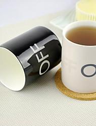 Недорогие -магия изменения цвета ON OFF образов 250мл керамическая чашка кружка