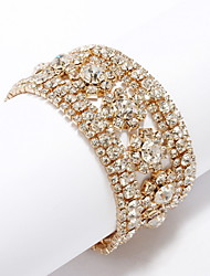 cheap -Unique 18K Gold Plated with Crystal Bracelet More Colors