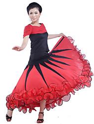 abordables -danse de salon jupes femmes formation viscose naturel élégant style