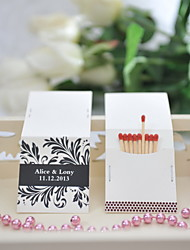 Wedding Décor Personalized Matchbooks - Black Print (Set of 25)