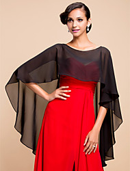Sleeveless Chiffon Wedding Party Evening Wedding  Wraps Capelets