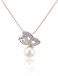 cheap -Women's Fashion Pendant Necklace Pearl Necklace Pearl Alloy Pendant Necklace Pearl Necklace , Daily
