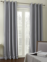 Two Panels Curtain Neoclassical , Jacquard Stripe Living Room Polyester Material Curtains Drapes Home Decoration