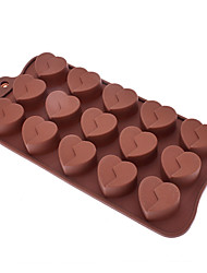 cheap -Love Shaped Sugarcraft Silicone Mold for Candy/Cookie/Jelly/Chocolate