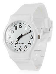 cheap -Women's Quartz Wrist Watch Hot Sale Silicone Band Charm Casual Dress Watch Fashion Black White Red Green