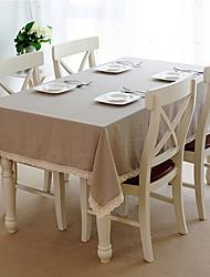 Beige Linen Rectangular / Square Table Cloths