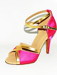 billige -skræddersyede to tone satin Latin / balsal ydeevne sko (flere farver)