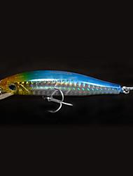 Недорогие -1 штук Жесткая наживка Рыболовная приманка Воблер прогонистой формы Жесткая наживка Жесткие пластиковые Морское рыболовство Пресноводная
