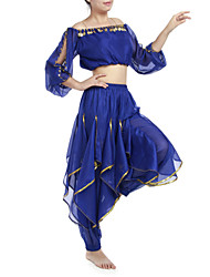 cheap -Belly Dance Outfits Women's Chiffon Beading / Sequin / Coin 22.44inch(57cm) Natural / Performance