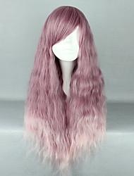 Недорогие -Косплэй парики Жен. 28 дюймовый Термостойкое волокно Розовый+Лиловый Аниме