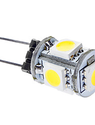 abordables -Ampoules Maïs LED Blanc Naturel G4 5 SMD 5050 75 LM DC 12 V