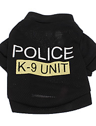 economico -Cane T-shirt Abbigliamento per cani Polizia/Forze armate Lettere & Numeri Costume Per animali domestici