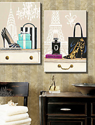 cheap -Stretched Canvas Art Still Life Fashion  Set of 2