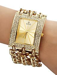Da donna Orologio alla moda Orologio braccialetto Quarzo Banda Brillanti Oro Oro Bianco
