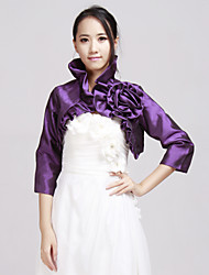 cheap -Taffeta Wedding / Party Evening / Casual Wedding  Wraps With Beading Coats / Jackets