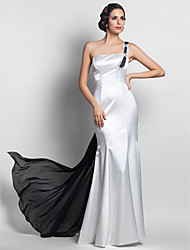 cheap -Mermaid / Trumpet One Shoulder Sweep / Brush Train Watteau Train Chiffon Evening Dress with Beading by TS Couture®
