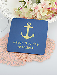 Personalizzati di ancoraggio Wedding Sottobicchieri-Set di 4 (più colori)
