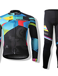cheap -SPAKCT Cycling Jersey with Tights Unisex Long Sleeves Bike Sleeves Clothing Suits Bike Wear Thermal / Warm Quick Dry Windproof Front