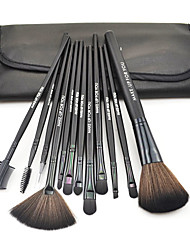 cheap -Make-up For You®12pcs Makeup Brushes set Portable/Limits bacteria Black Blush brush Shadow/Eyeliner/Brow/Lashes Brush High grade Makeup Kit