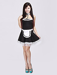 baratos -Empregada doméstica das mulheres Fifi Fancy Dress Adulto Sexy empregada doméstica francesa Halloween Costume (4pieces)