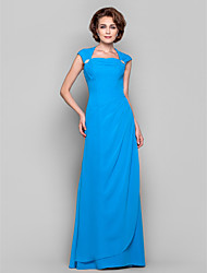 cheap -Sheath / Column Cowl Neck Floor-length Chiffon Mother of the Bride Dress by LAN TING BRIDE®