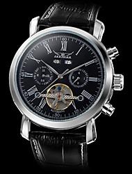 Недорогие -Муж. Наручные часы Механические часы С автоподзаводом Черный С гравировкой Аналоговый Роскошь - Белый Черный / Нержавеющая сталь
