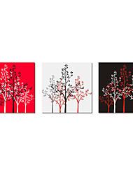 cheap -Stretched Canvas Print Canvas Set Botanical Three Panels Horizontal Print Wall Decor Home Decoration