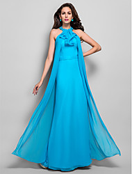 cheap -Sheath / Column High Neck Floor Length Chiffon Evening Dress with Beading by TS Couture®