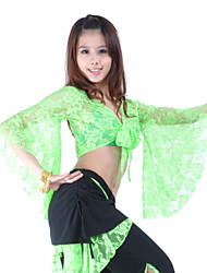 Belly Dance Tops Women's Training Lace 1 Piece 3/4 Length Sleeve Tops