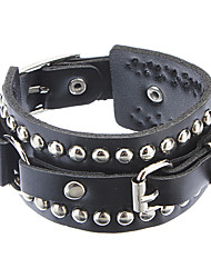 cheap -Z&X®  The Influx Of People In Europe And America Rivet Punk Leather Bracelet Christmas Gifts