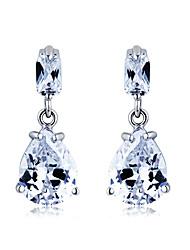 S & V Mão Waterdrop Gracioso femininos feitos de cristal de zircão brincos