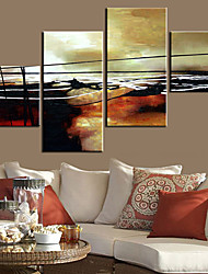 cheap -Stretched Canvas Art Abstract Lines Set of 4