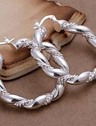 preiswerte -Ohrring Kreolen Schmuck Alltag Aleación Damen Silber