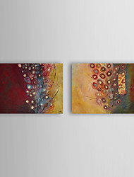 Hand-Painted Abstract Two Panels Canvas Oil Painting For Home Decoration
