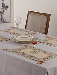 cheap -Beige Polyester Rectangular Placemats