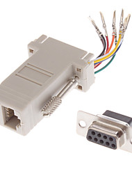 cheap -DB9 Male to RJ-45 Female Modular Adaptor White