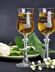 Недорогие -Персонализированные кристалл свадьба тостов флейты (набор из 2)