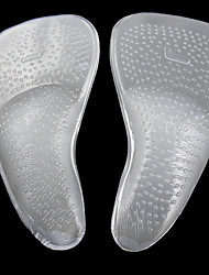 abordables -2pcs Silicone Semelle Intérieures Femme Toutes les Saisons Décontracté Blanc