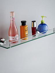 Недорогие -Полка для ванной Хром Крепление на стену 52*12*5cm (20.5*4.7*2inch) Медь / Стекло Современный
