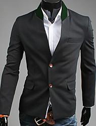 preiswerte -REVERIE UOMO Herren Schwarz 2013 Autumn New Model Korean einzelne Brust Slim Fit Tweed Anzug