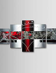 Hand-Painted Abstract Any Shape Five Panels Canvas Oil Painting For Home Decoration